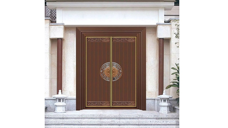 别墅中式铜门