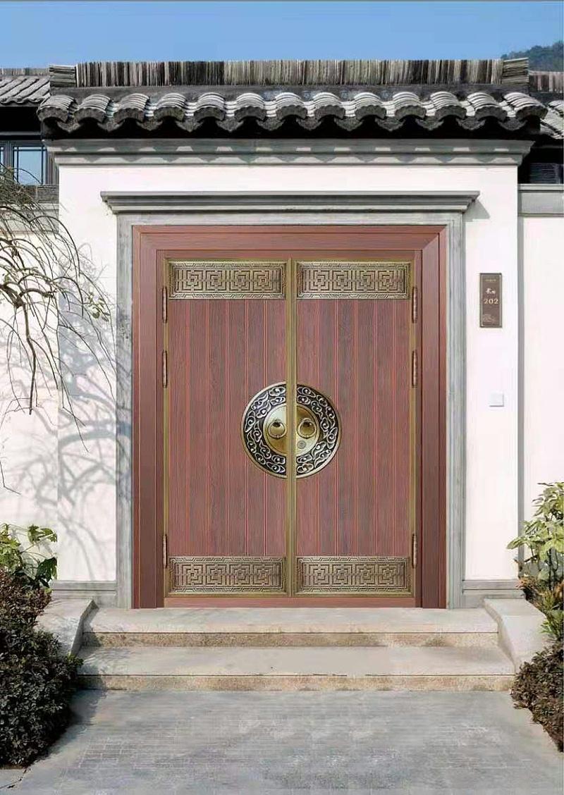 中式双开铜门