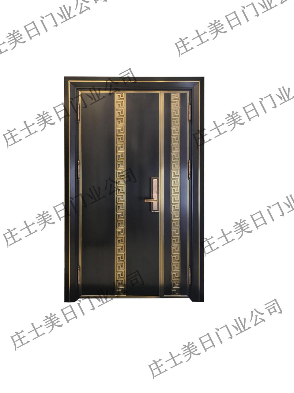 中式单开铜门