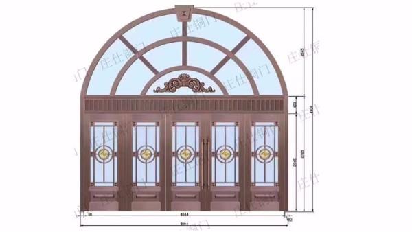 深圳铜门的尺寸计算