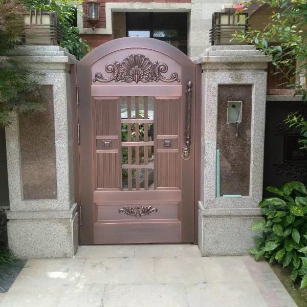 单开铜庭院门