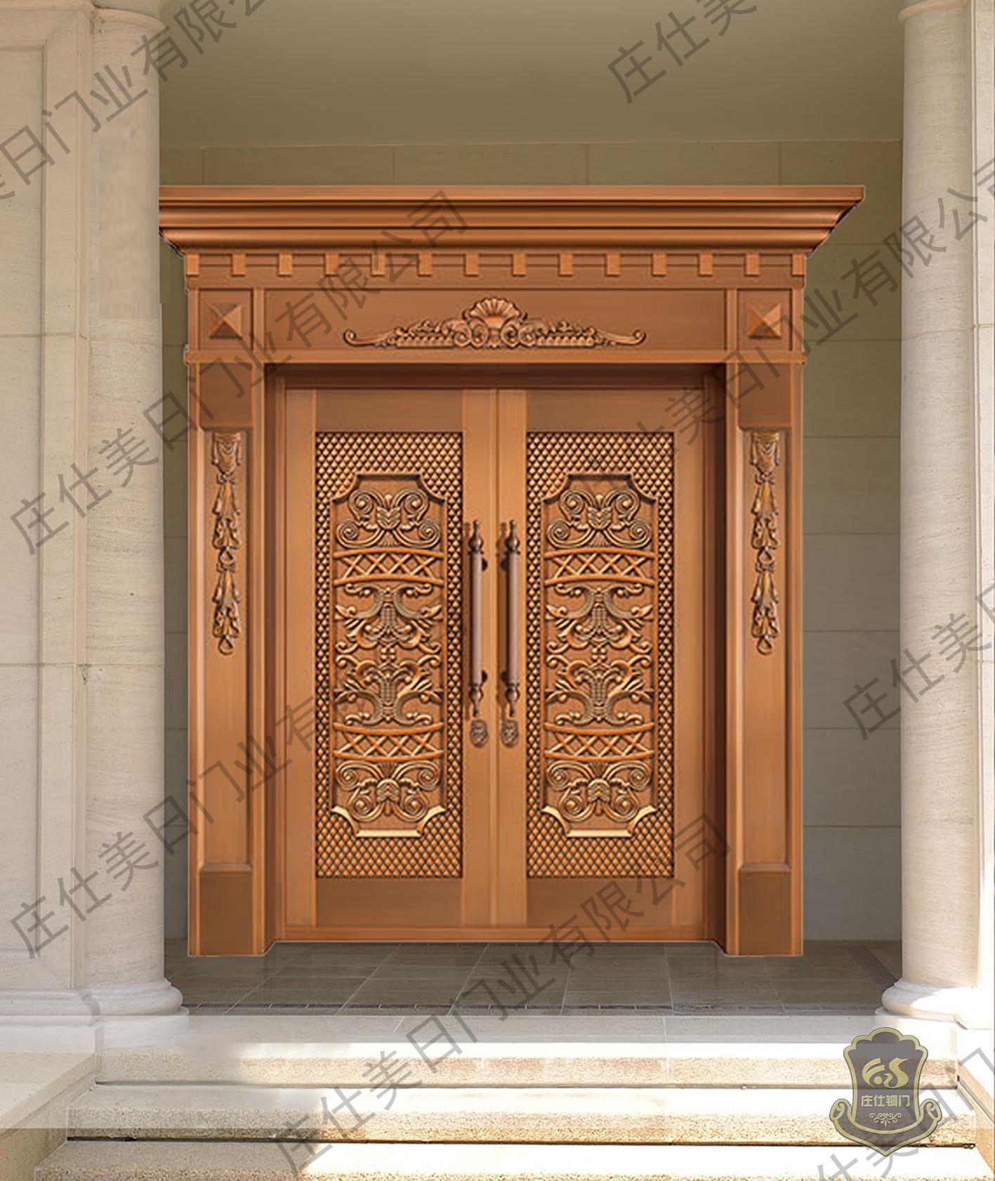 别墅纯铜双开大门