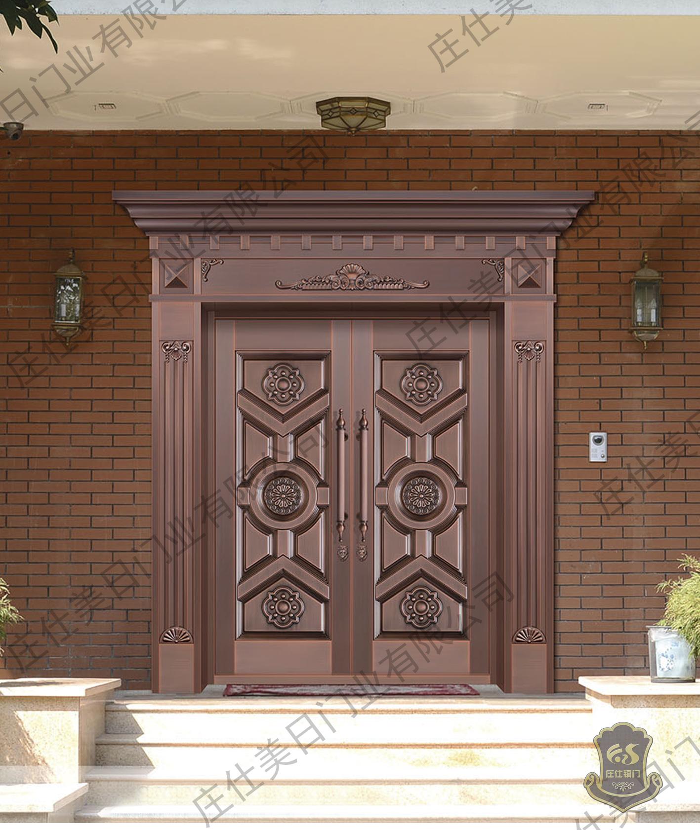 双开铜门-庄仕铜门