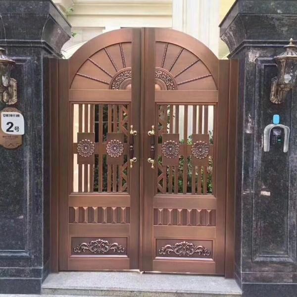 庄仕双开铜庭院大门