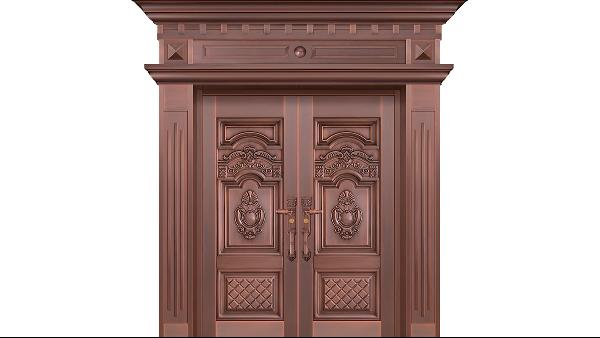 铜门是一种豪华的玄关