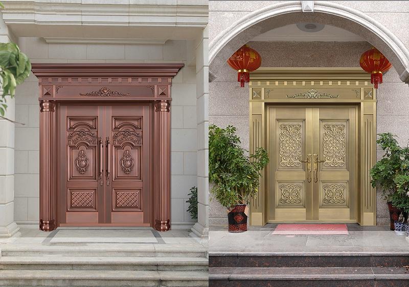 双开铜大门