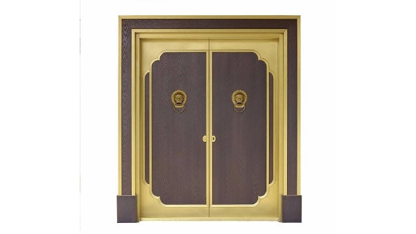 中式铜大门